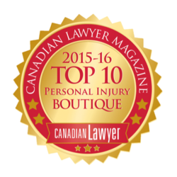 Slater Vecchio top personal injury law firm Canada