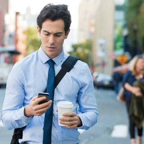 Distracted Walking Texting Smartphone